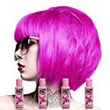 Renbow - Crazy Colour - Cremas de color semi-permanente para el cabello, 100 ml, 4 unidades