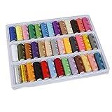 Switty Kingso 39rotoli colori assortiti di rocchetti di filo di cotone per cucire a mano macchina