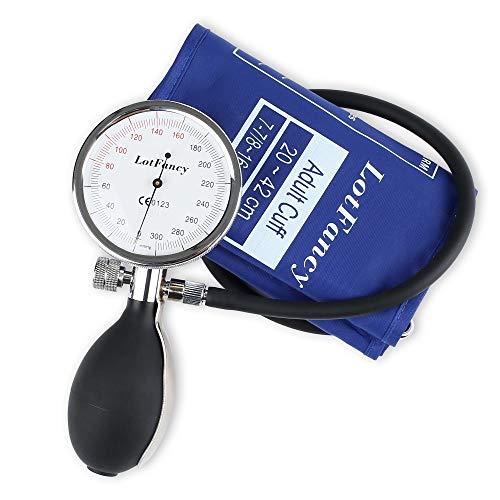 LotFancy Professional Manual Blood Pressure Cuff - Aneroid Sphygmomanometer with Durable Zipper Case, Blood Pressure Gauge with Adult Sized Cuff (7.8-16.5 Inches), Blue