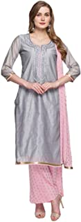 STOP By Shoppers Stop Womens Round Neck Slub Palazzo Suit