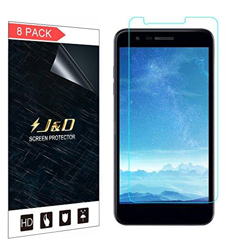 JundD Kompatibel für 8er Set LG K30 Bildschirm Schutzfolie, LG K10 2018 Bildschirm Schutzfolie, [Ganze Deckung] Premium HD-Clear Schutzfolie für LG K30, LG K10 (Release in 2018) - [Nicht für LG K10 2017]