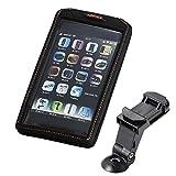 IBERA(イベラ) スマートフォンホルダー フォンケース [Phone case] スマートフォンバッグ 5-6.3インチサイズ対応 ステム取付用クランプ付 50g EVA H168xW90xD14mm IB-PB17-Q5