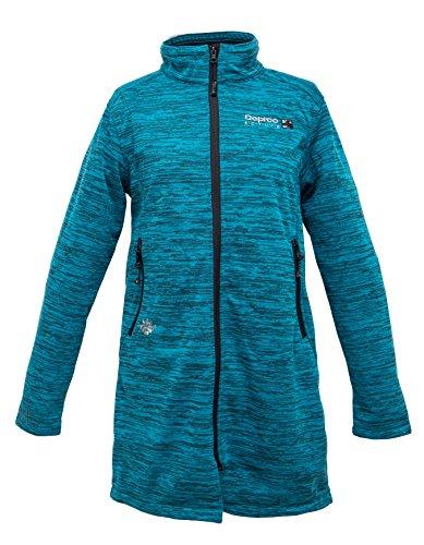 Windproof Knitted Fleece Long Deproc Active Veste Famme Taille 16