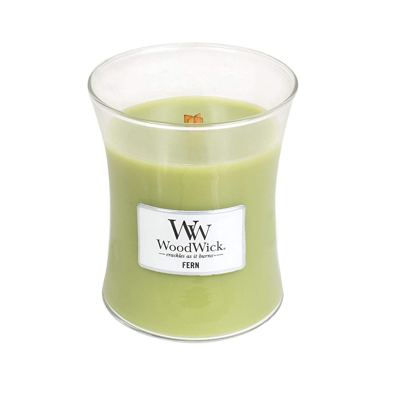 太平洋諸島疫病広範囲に(Medium, Fern) - WoodWick Medium Hourglass Scented Candle, Fern