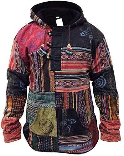 SHOPOHOLIC FASHION Hommes Patchwork rançonné Pull-over Veste - Multicolore, Medium