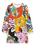 Desigual Vest_Oaxaca Vestido Casual, Multicolor, 3/4 para Niñas