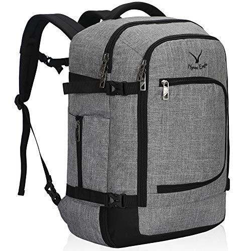 Hynes Eagle Travel Backpack 40L Flight Approved Carry on Backpack, Light Grey 2018