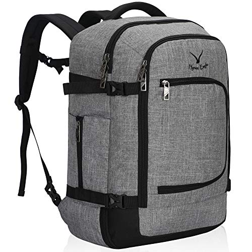 Hynes Eagle Travel Backpack 40L Flight Approved Carry on Backpack, Light Grey 2018