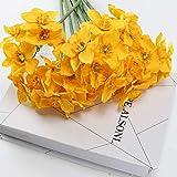 XHXSTORE 12 Pièces Fleurs Artificielles Jonquille Jaune Fleurs de Printemps Faux Bouquet de Soie Fleurs en Plastique Intérieur de Mariage en Plein Air Décoration de Bureau à Domicile