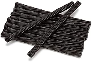 Happy Bites Jumbo Black Licorice Twists - Certified Kosher - 1 Pound Bag (16 oz)