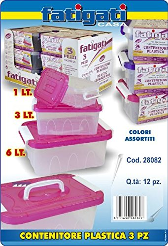 Fatigati Casa - CONTENITORI PLASTICA 3 PZ 6+3+1 LT