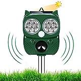 Solar Ultrasónico Repelente para Gatos Ultrasónico Ahuyentador pare Animales, Gatos, Ratas, Perros, Aves, Zorros y otros, Outdoor Repeller para Los Animales con LED Que Destella
