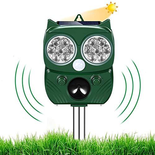 Nitoer Solar Ultrasónico Repelente para Gatos Ultrasónico Ahuyentador Pare Animales, Gatos, Ratas, Perros, Aves, Zorros y Otros, Outdoor Repeller para Los Animales con LED Que Destella