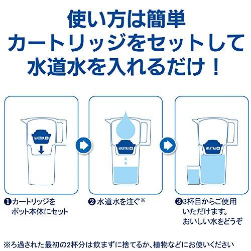 ブリタ浄水器ポット浄水部容量:2.0L(全容量:3.5L)アルーナXLマクストラプラスカートリッジ3個付き【日本正規品】ホワイト塩素水垢不純物除去