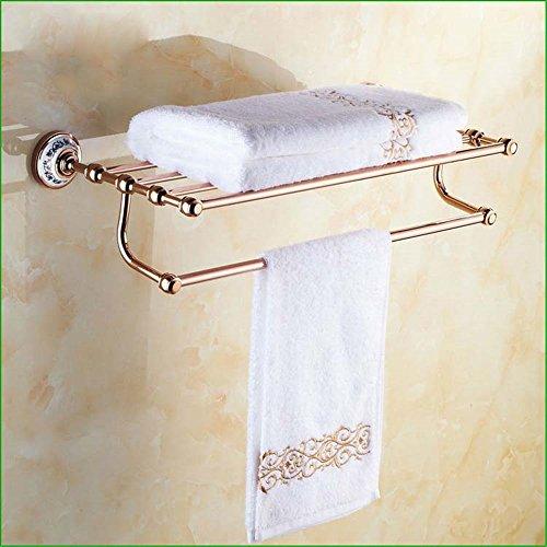 Juego simple de toallero de cobre y oro rosa para toallas, toallero o toallero de doble taza con gancho A