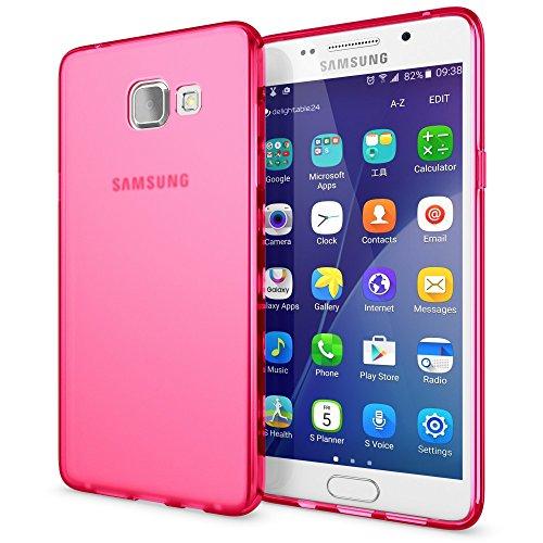 NALIA Custodia compatibile con Samsung Galaxy A5 2016, Cover Protezione Ultra-Slim Case Resistente Protettiva Cellulare in Silicone Gel, Gomma Morbido Bumper Copertura Sottile - Matte Pink Rosa