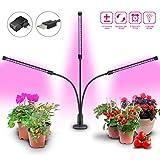 GIAGIA Lampe de Croissance 28W LED Lampe de Plante Horticole avec Minuterie 3 Modes Lumière de Croissance Réglable Éclairage pour Plante Amélioré pour Fleur Légume Fruit Intérieur