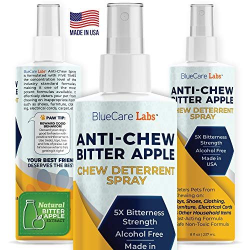 Bitter Apple Spray for Dogs to Stop Chewing Furniture & Household Items Pet Corrector Spray for Dogs, Strong Anti Chew Deterrent Spray for Dogs & Puppies Natural NO CHEW Spray ALCOHOL FREE NON TOXIC