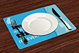 Manteles Individuales, Familia, la familia lo es todo entre comillas Frase inspiradora Di,Mantel Individual Antideslizante Lavable Resistente Al Calor para Hoteles Restaurante Catering (Paquete de 4)