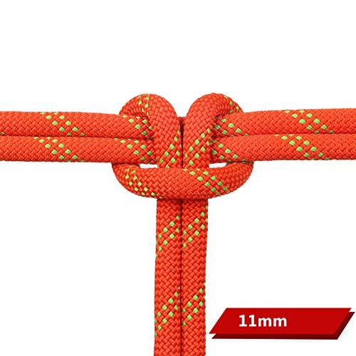 GJF Corda per Arrampicata, Corda per Protezione Arrampicata Nylon Arrampicata Esercizio all'aperto Corde per Sci Nautico Assicurazione (5-50m)-11mm-25m