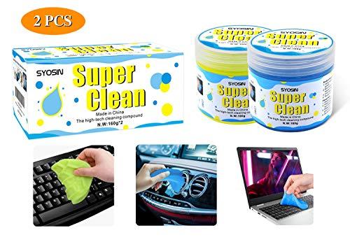 SYOSIN 2 Stück Tastatur Reinigung Auto Reinigungsgel Universeller Staubreiniger für Laptops, Computers, Auto-Entlüftungsöffnungen, Taschenrechner