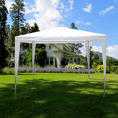 Garden Vida Pop Up Gazebo 3x3m Marquee Party Tent Outdoor Garden Canopy Water-Resistant With Carry Bag, White