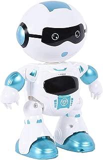 ロボット プログラミングロボ スマート 人型ロボット – Happytime LZ19001 フレンドリー インテリジェント 音楽ダンス LEDライト おもちゃ (Blue)