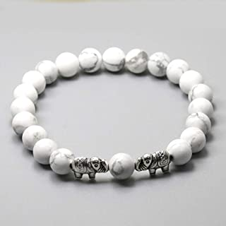 PHLPXL Lava Onyx Bracelet Elephant Tiger Eye Stone Bracelet Stretch Mens Bracelet Buddha Women Bracelet