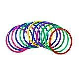 YeahiBaby Anillos de lanzamiento de plástico 12 piezas Juegos de práctica de velocidad y agilidad al aire libre (color aleatorio)