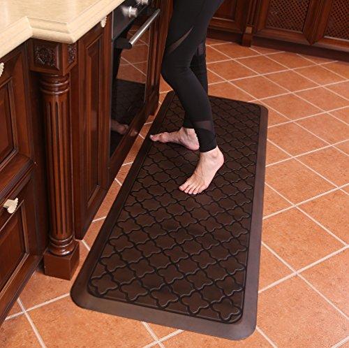 Butterfly Long Kitchen Anti Fatigue Mat Comfort Floor Mats - Perfect for Kitchen and Standing Desks, Material, Waterproof Kitchen Floor Mat, 24 x 70 inches, Dark.Antique