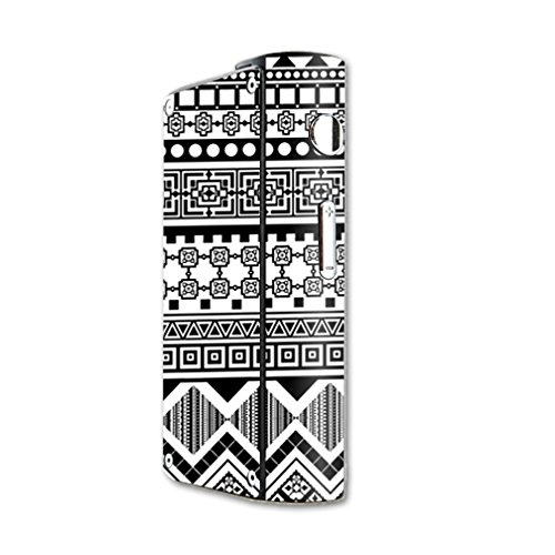 MightySkins Skin Compatible with Laisimo S3 200W TC mod Skins Sticker Vape Black Aztec
