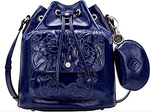 Patricia Nash Tooled Leather Sabina Crossbody Bag Purse in Patriot Blue
