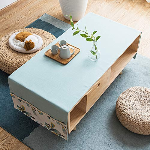 YXDZ Américain Table Basse Nappe Tissu Art Couverture Serviette Rectangulaire Table Tissu Écriture Bureau Couverture Tissu