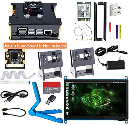 Makeronics Developer Kit for Jetson Nano 7inch Touch IMX 219 77 Camera with Case 64GB Class product image