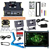 Makeronics Developer Kit for Jetson Nano -7inch Touch| IMX 219-77 Camera with Case| 64GB Class 10 TF Card with Card Reader | Jetson Nano Acrylic Case For Both A02 and B01| 8265 Wireless Card + Antenna