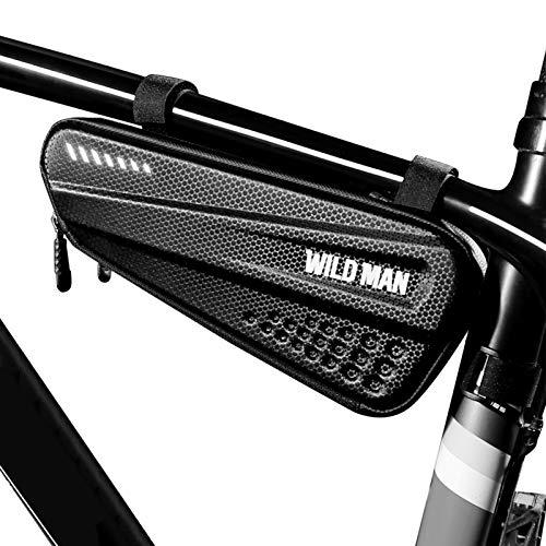 Lixada Impermeable Bolsa de Tubo Superior para Bicicleta, Carcasa Rígida, Bolsa para Cuadro de Bici,Caja de Almacenamiento para MTB,Bolsa para Ciclismo