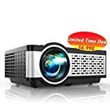 TOPTRO Projector,Native 1280*720P Projector,Upgraded 5800 Lumens Mini Videoprojector,Portable LCD Home/Outdoor Theater Projector Supports