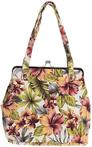 Küstenluder Damen Tasche Maile Tiki Hawaii Kisslock Bag Mehrfarbig