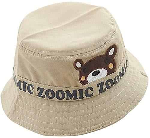 SGHKKL Sombrero de Pescador de los niños Tide Verano Lindo Sombrero de Oso Visera del Sombrero del bebé Spring Travel Protección de Sun (Color : Beige)