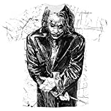Popfunk The Dark Knight Heath Ledger Sketchy Joker T Shirts & Stickers (X-Large)