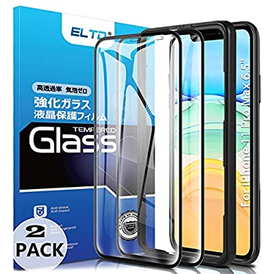 ELTD 2 Pack HD Full Coverage Tempered Glass Scr...