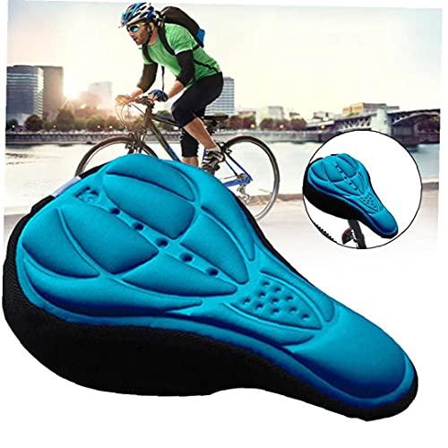 Tuimiyisou Asiento de Bicicleta de la Bicicleta de Espuma Suave cojín del Asiento cómodo cojín del Asiento MTB Amortiguador Amortiguador de Asiento de la Bicicleta Azul Accesorios