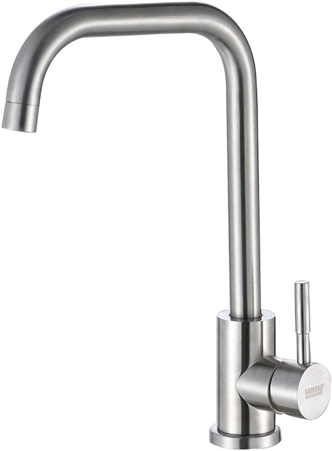 WOOMD WOOMD Italian Style Kitchen Stainless Steel Faucet 360 Degree redating Bathroom Faucet Pub Kitchen Faucet Hot Cold Basin Mixer Sink Tap Durable Bathing Center Faucet(Lead-free,ceramic Valve Core