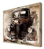 CCRETROILUMINADOS Coches Cartel Vintage Retroiluminado, Metacrilato, Multicolor, 100 x 80