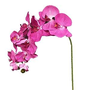 """Silk Flower Arrangements Silk Flower Garden 2 Pcs Artificial Butterfly Orchid Spray 38"""", Lavender"""