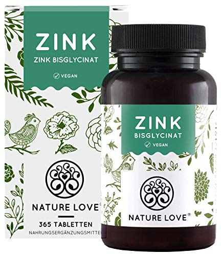 Nature Love® | Zink | 25 mg | 365 tabletten | Veganistisch
