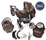 Sportive X2 - Landau pour bébé + Siège Auto - Poussette - Système 3en1 + Accessoires (Système 3en1, bronze)