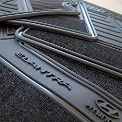 Buy your products in TheCustomCarMat ANTI SLIP SYSTEM THAT AVOIDS LONGITUDINAL OR ROTATION MOVEMENTS ELANTRA 2016 ONLY FOR THE NEW VERSION THE HEIGHT OF THE EDGES PREVENTS ANY LIQUID TO SPILL ON THE CARPET DO NOT HAMPER ANY PEDAL LEVERS OR SLIDES