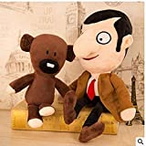 HQFC A Set of 30 cm Cute Plush Toys, Mr. Bean and His Bear, Plush Toys and 2 Birthday Gifts