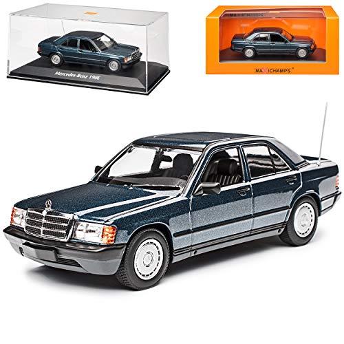 Mercedes-Benz C-Klasse 190E W201 Blau Metallic 1982-1993 1/43 Minichamps Maxichamps Modell Auto